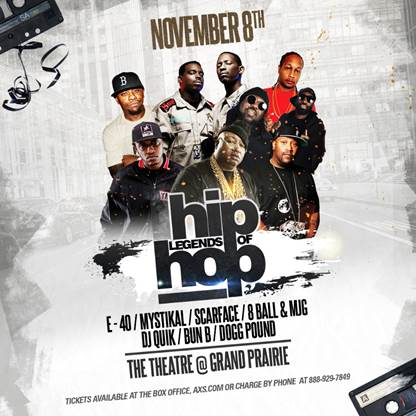 Legends of Hip Hop at The Theatre at Grand Prairie 11 08 19